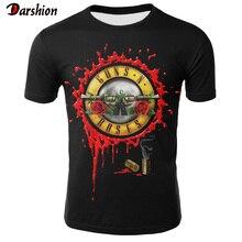2019 Novelty 3D T Shirt Men Roses And Guns T Shirt Short Sle