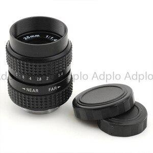Image 4 - 25mm f1.4 CCTV C dağı Lens + C Mikro M4/3 NEX/N1/Pentax Q /Fuji/EF M M2 Adaptör Takımı Için Pentax Kamera + Lens Kapağı