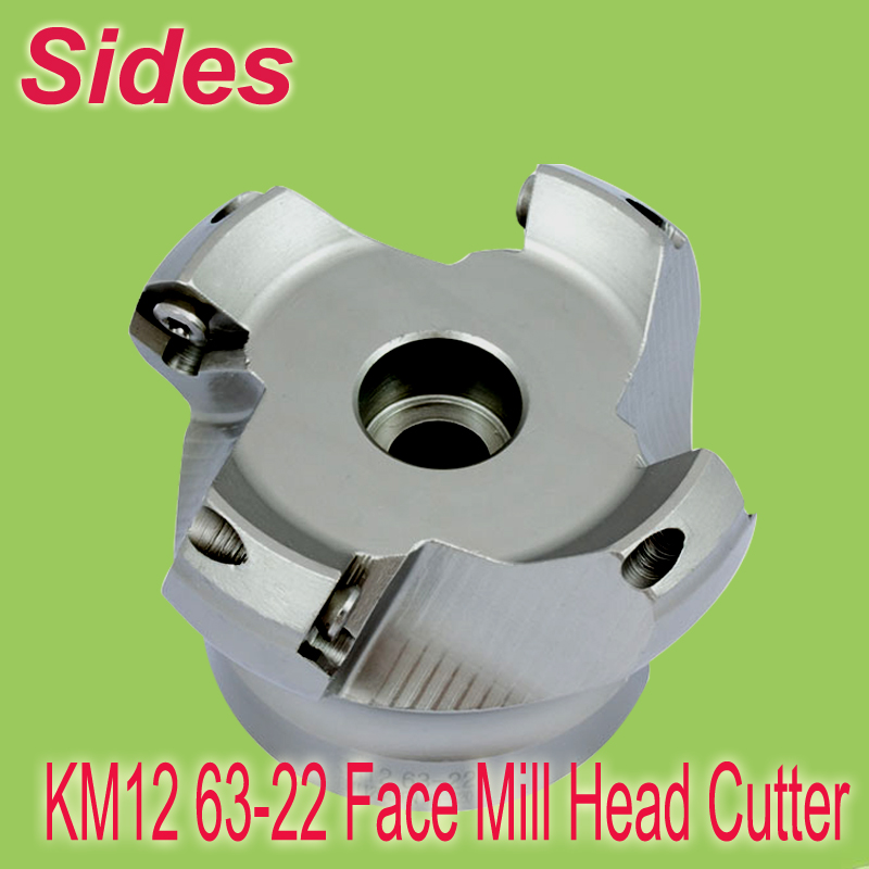 Free Shiping Two Colors KM45 63-22-4T 45 Degree Shoulder Face Mill Head for SEHT1204