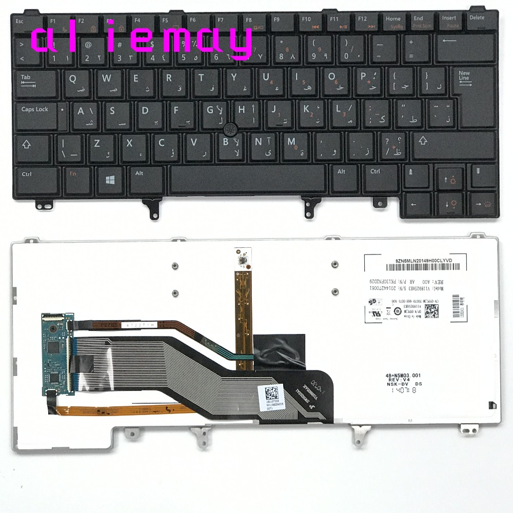 Brand new original backlight UK AR Arabet <font><b>keyboard</b></font> for <font><b>DELL</b></font> LATITUDE E6420 E6430 E6320 E5420 E5430 E6220 <font><b>E6230</b></font> /w Track point image