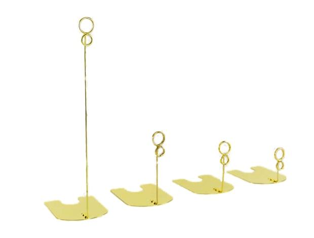 50 ピース高さ 5/10/15 センチゴールド銀色黒食品店ポップ金属卓上サインクリップ価格タグ名刺クリップラベルホルダースタンドクランプ