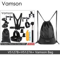 Vamson For Gopro Hero 6 5 4 Accessories Set Kit Adapter Floaty Bobber Monopod Bike Mount
