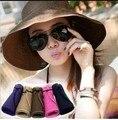 Foldable Beach Straw Hat Women Summer Sunbonnet Ladies Sun Hat Sunscreen Elegant Hats Girls Vacation Tour Hat