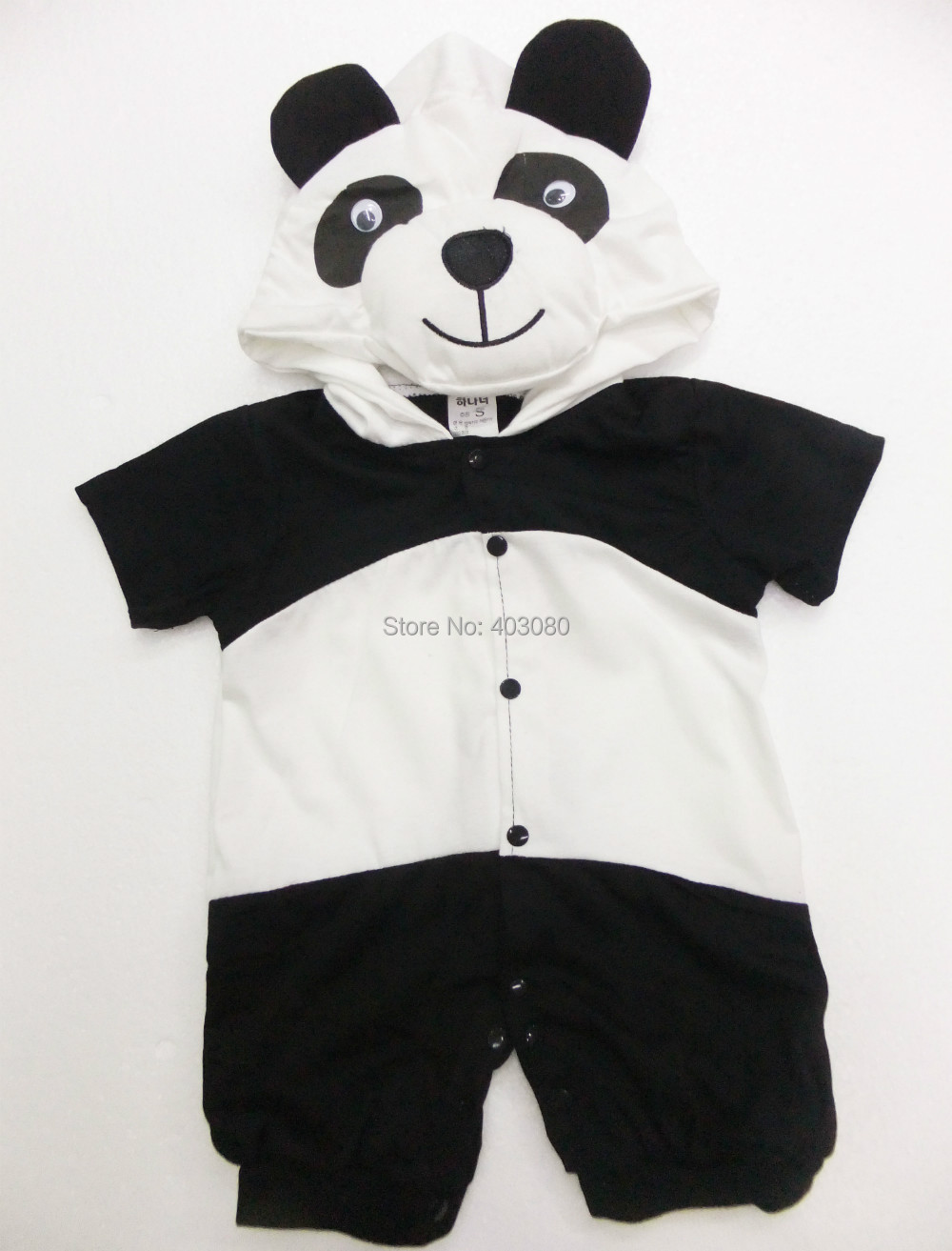 wholesale& retail short sleeve cotton clothing panda sculpt Baby crawl clothing kid clothes Rompers panda plays clothing SZ-S-XL