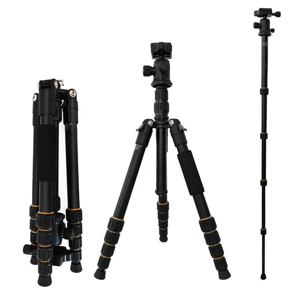 Lightweight  Q666 Professional Travel Camera Tripod Monopod Aluminum Ball Head Compact For Canon/Nikon Digital SLR DSLR Camera
