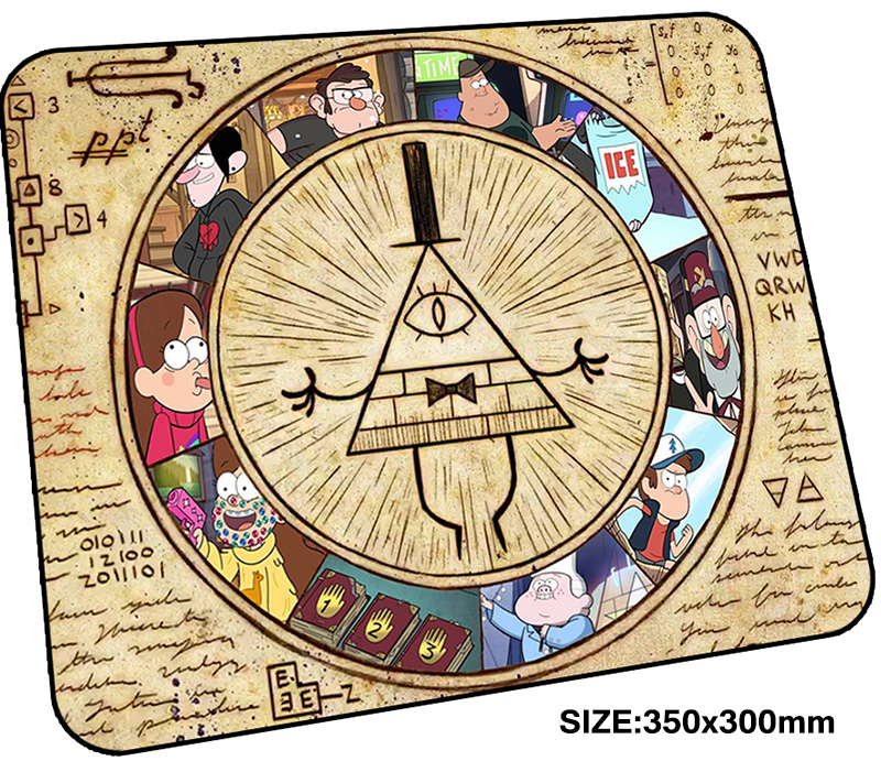 gravity falls mousepad gamer 350x300x3mm gaming mouse pad Fashion notebook pc accessories padmouse HD pattern ergonomic mat