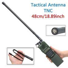 TNC Connector Dual Band 144/430Mhz Foldable CS Tactical Antenna For Kenwood TK 378 Harris AN/PRC 152 148 Marantz Walkie Talkie