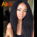 Glueless Kinky Straight Wig Lace Front Wigs Kinky Straight U Part Wig Full Lace Human Hair Wigs For Black Women With Baby Hair