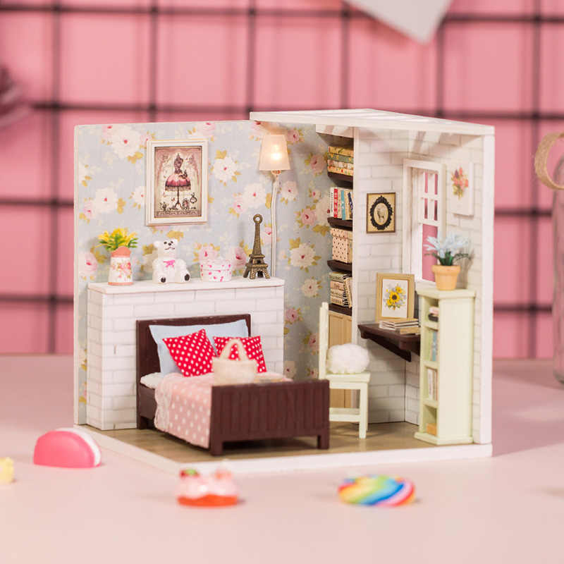 Doll House Dolly Pavilion DIY Miniature Dollhouse Model Toy & Hobbies Doll House Furniture Accessories DIY Toy For Children Gift