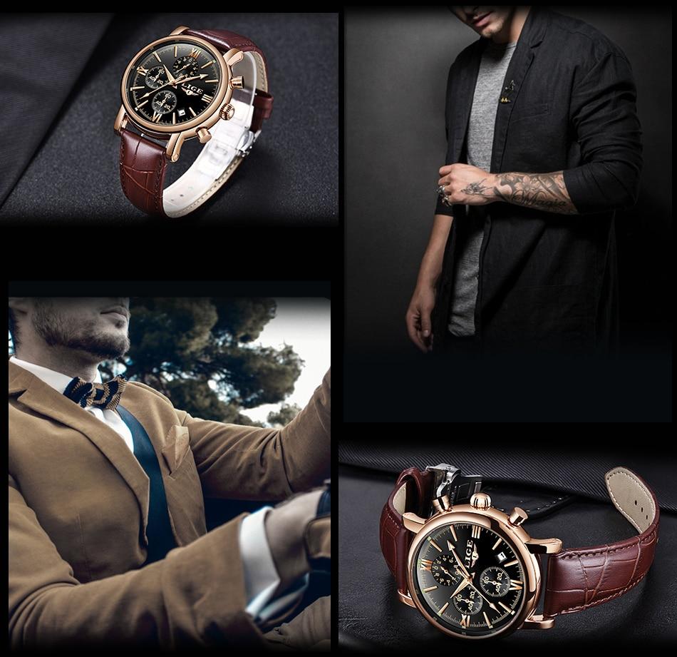 HTB1f qIbA5E3KVjSZFCq6zuzXXa5 2019 LIGE Business Leather Fashion Waterproof Quartz Watch For Mens Watches Top Brand Luxury Male Date Clock Relogio Masculino