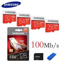 SAMSUNG Memory Card 32GB 64GB 128GB 256GB 100M S Class10 UHS 1 Flash Micro SD