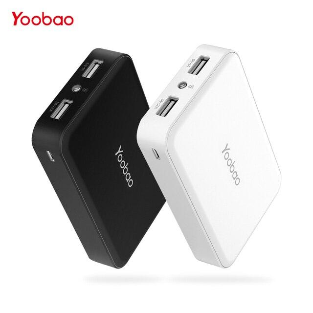 Yoobao mi ni Мощность Bank 10000 мАч Мощность банк Малый Портативный Зарядное устройство Внешний Батарея Pover банка для samsung S8 для Xiaomi mi телефон