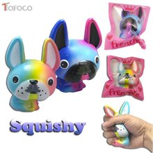 TOFOCO 13cm Slow Rising Dog Squishy Jumbo Squish Toys Kawaii Squishies Antistress Funny Squeeze Toy For Kids PU Material(China)