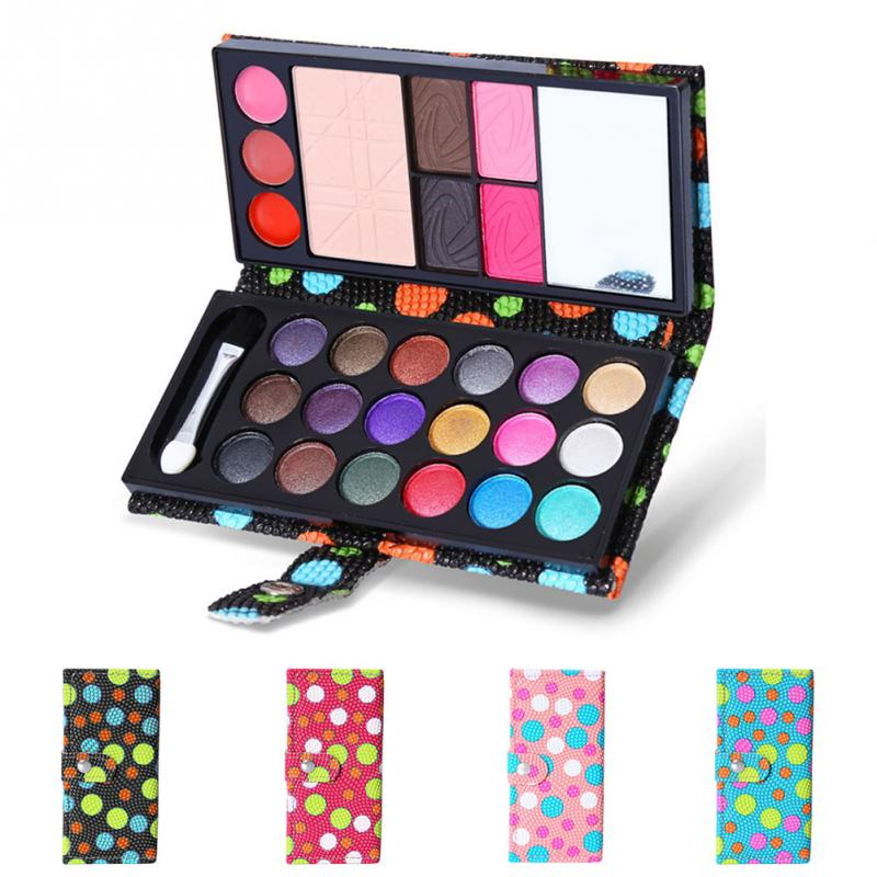 26 Colors Makeup Modification Lip Gloss Blush Set with Button Bag Cosmetics Shimmer Pearl Eyeshadow Palette Natural