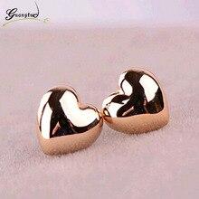 Fashion Simple Heart Shape Stud Earrings For Women Wedding & Engagement Jewelry Piercing Oorbellen Brincos Earring