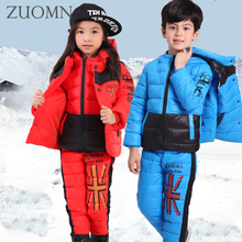 Russian Winter Coats Baby Girls Boys Clothes Sets Children White Duck Down Jackets Warm Coat Snowsuits