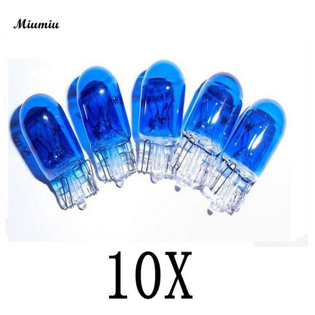 Miumiu Car fog lamp assembly 10pcs/set Cool T10 W5W Car Lights 5W 8000K XENON Insert Halogen Light Bulb for Car fog Lamps