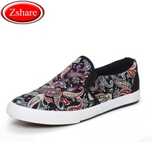 Men Casual Shoes Fashion Graffiti Mens Canvas Man Loafers Luxury Brand Comfortable Flat Slip-on chaussures homme