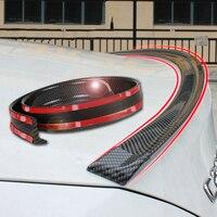Universele spoiler 1.5 M Auto-Styling 5D carbon rubber tail spoiler PU carbon solderen DIY refit spoiler geschikt door alle type auto