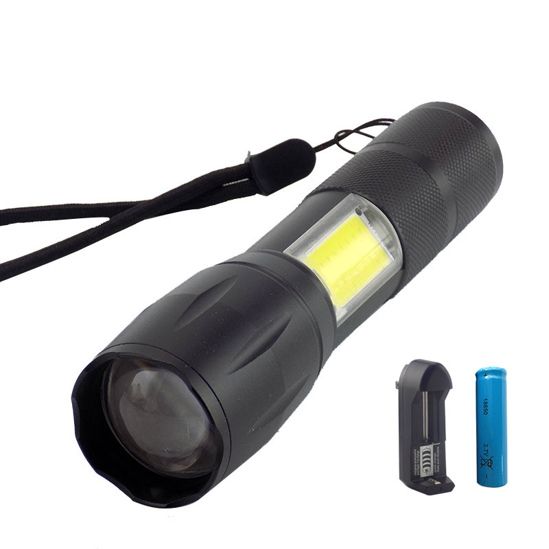 Lights & Lighting Flight Tracker New Arrival Single Mode Cob Led Flashlight Flash Lamp Torch Lantern On/off Led Lamp For Outdoor Camping Emergency Light By Aaa Led Lighting