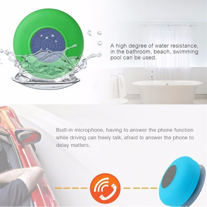 FUWUDIYI Waterproof Portable Speakers Bathroom Shower Radio Bluetooth  Speaker Handsfree Surround Stereo Subwoofer  In Portable Speakers From  Consumer ...