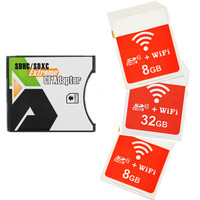 Wireless wifi SD card 8GB 16GB 32GB + SD SDHC to Type II CF Adapter Extreme CF Adapter wifi wireless CF Memory Card