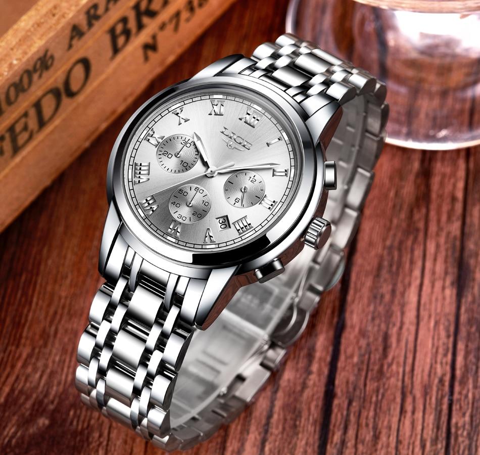 HTB1f sKX9YH8KJjSspdq6ARgVXae LIGE Men Watches Top Luxury Brand Full Steel Waterproof Sport Quartz Watch Men Fashion Date Clock Chronograph Relogio Masculino