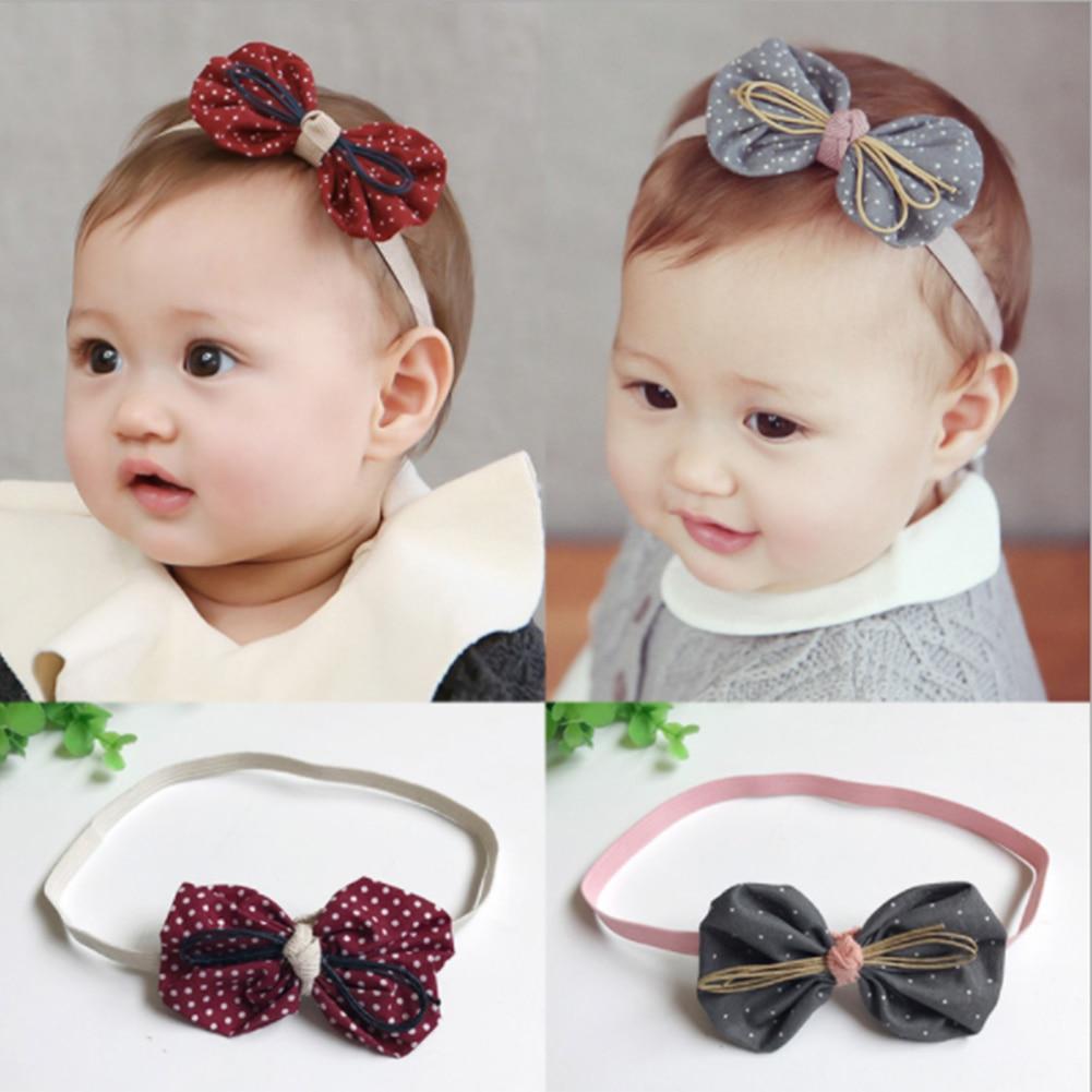 20X Baby Kids Girls Bow Headband Hairband Soft Elastic Band Hair Accessories