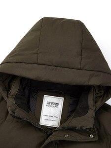 Image 4 - BOSIDENGฤดูหนาวThickenลงเสื้อสำหรับชายHooded Down Coat Outwearกลาง ยาวปกติกันน้ำหกสีb80141021