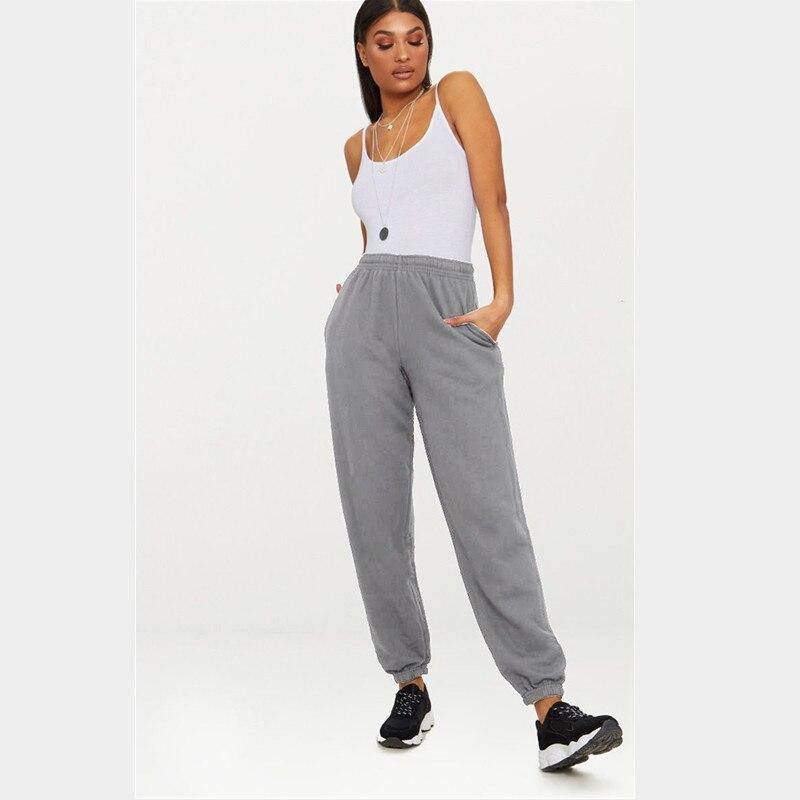 חדש חם אופנה אישיות טמפרמנט גבוהה מותניים כושר גומייה loose ספורט מכנסיים מקרית היפ הופ גבירותיי ישר מכנסיים