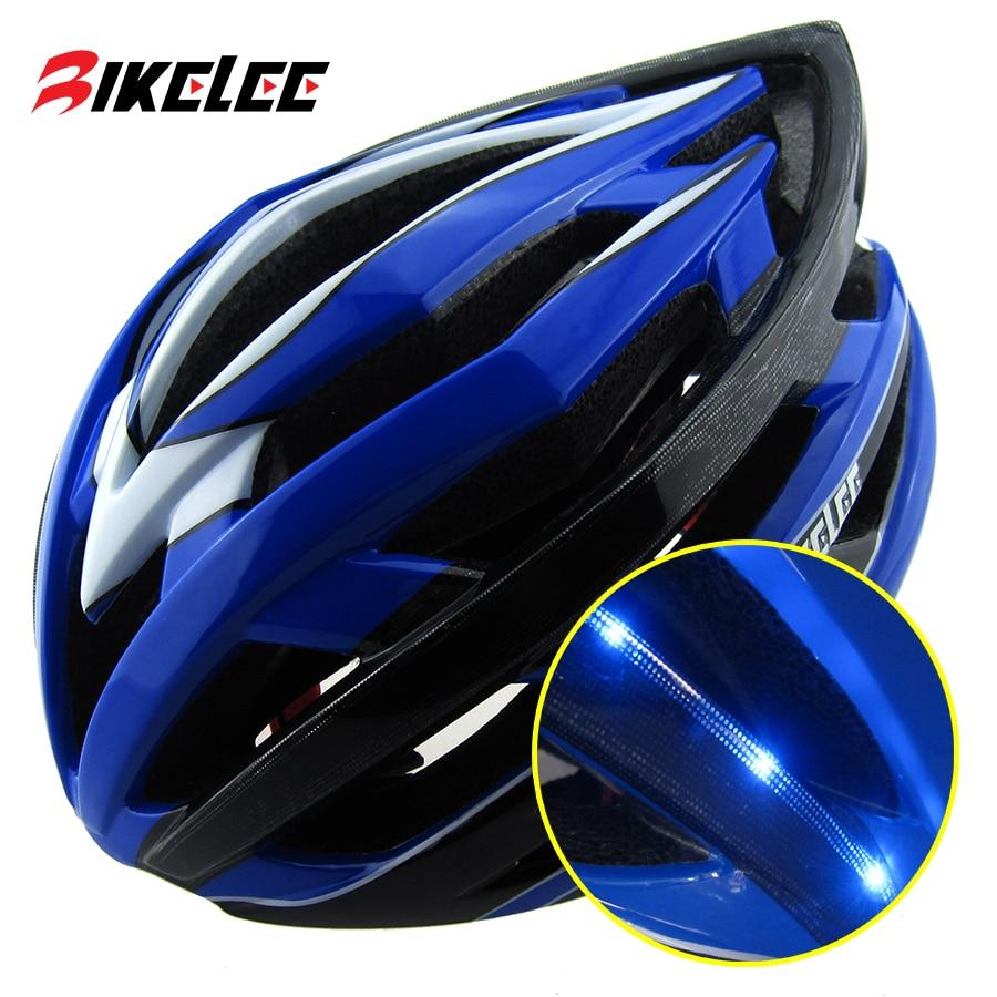 2017 Mens Road Bicycle Helmet Light LED 256g EPS+PC Blue ...