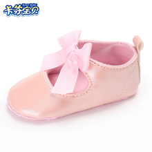 Baby Shoes PU leather Butterfly-knot Newborns Moccasins toddler infant Girl First Walkers 0-18 months