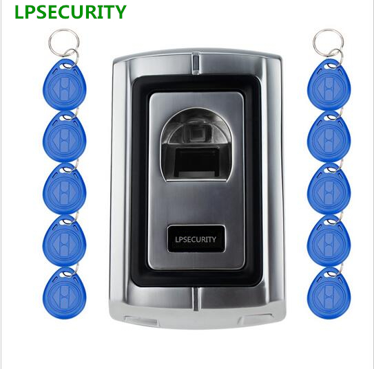 LPSECURITY 10tags Access Control Fingerprint reader/scanners with RFID EM reader/Control de Acceso Biometrico