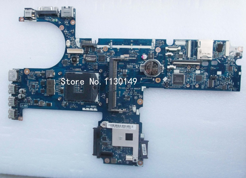 Free shipping Laptop motherboard 593840-001 for HP probook 6540b 6440b mainboard LA-4892P tested 100% working 585221 001 fit for hp probook 4515s 4416s laptop motherboard mainboard 100