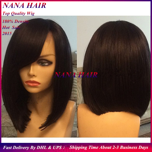 In Stock African American New Short Black Straight Synthetic Bob