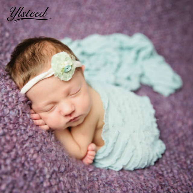 New newborn strech wrap nubble wraps swaddle newborn photography props blanket baby photo shoot props picture
