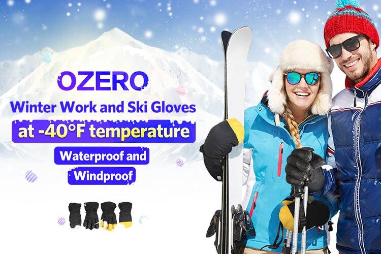 e66300535 OZERO Winter Männer der Arbeit Fahrer Warme Handschuhe Winddicht ...