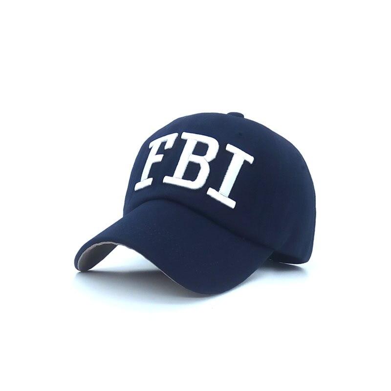 Nuevo sombrero de béisbol de los hombres mujeres del fbi aletter sombra marca sn