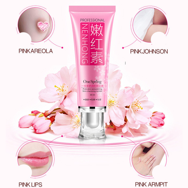 US $2 77 30% OFF|Pink Privates Lightening Cream Intimate Area Whitening  Vaginal Anal Bleach 30ml OA66-in Lip Balm from Beauty & Health on