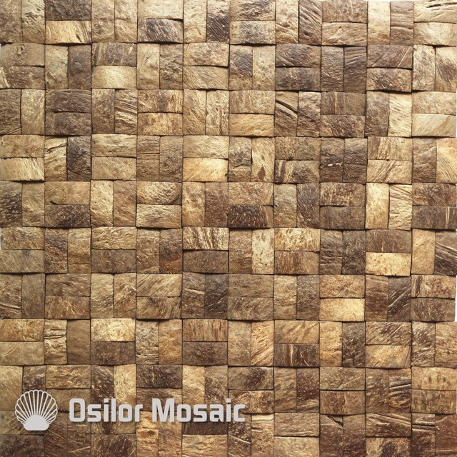 southeast asia style natural 100 coconut shell mosaic tile for home decoration