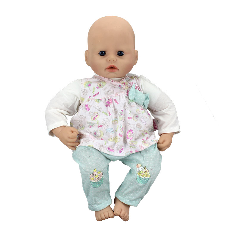 Cute Set Jumpsuits Doll Clothes Wear fit for 46cm Zapf Baby Annabell, Children best Birthday Gift(only sell clothes)