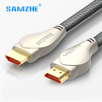 SAMZHE HDMI Cable Luxury HDMI To HDMI Braided Zinc Alloy Video Cable HDMI 2 0 4K