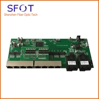 5pcs/lot, POE reverse Switch board, 8 Port GE Rj45 + 2 GBIC 20km Operational PD switch, 1~7 ports POE IN, the 8th port POE OUT