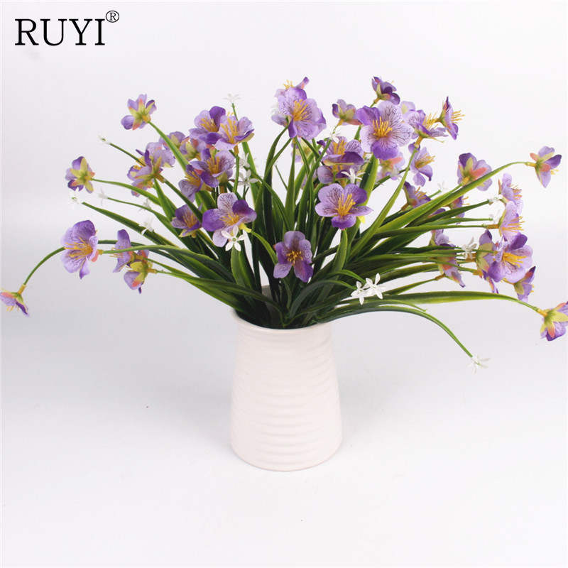 Artificial Phalaenopsis Bouquet Simulation Butterfly Orchid Fake Flower Office Accessories Wedding Home Dining Table Decoration