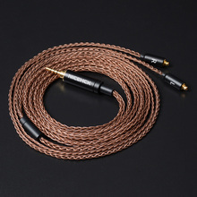 Nicehck 8 Core 6N GC OCC Single Crystal Koper Kabel Mmcx/2Pin 3.5/2.5/4.4Mm Evenwichtige Voor lz A7 ST10S Nicehck NX7 MK3/M6/Ebx/F3