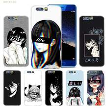 Anime Case for Huawei Honor Play 10 9 9i 8C 8X 8 7X 6A 6X lite 6C Pro TPU Silicone Coque Cover Phone shell LEWD Sad Japanese(China)