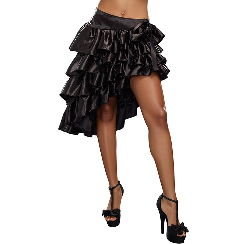 Атласная юбка и корсеты