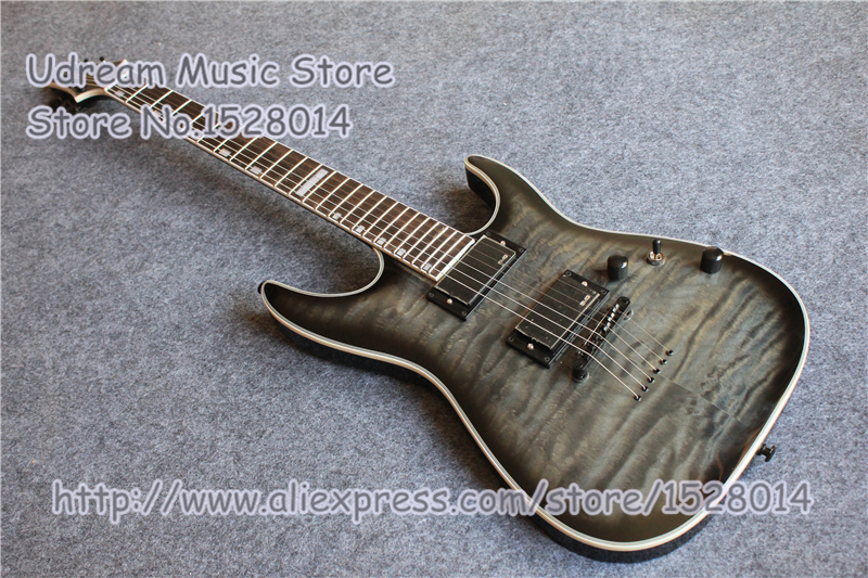 Tienda de encargo gris acolchado acabado Suneye Deluxe guitarra eléctrica en Stock y LP SG ES guitarra disponible