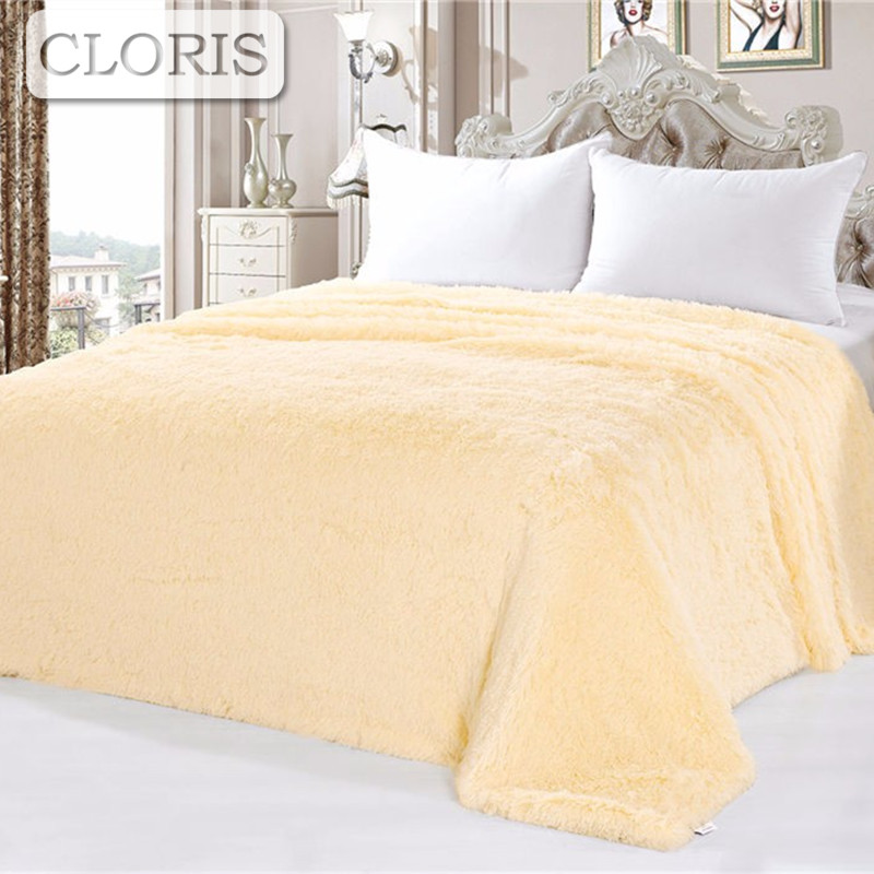 CLORIS 2017 Moscow Delivery Plaid Fluffy Blanket On The Bed Luxury Brand Solid Sofa Bed Quilt High Quality Adult Bedspread Cover big motors игровой набор кольцевые гонки