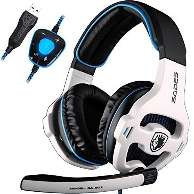 <font><b>Gaming</b></font> Headset Gamer USB <font><b>7.1</b></font> Surround Sound USB Verdrahtete Kopfhörer mit Mikrofon Volume Control für <font><b>PC</b></font> Gamer r20 image